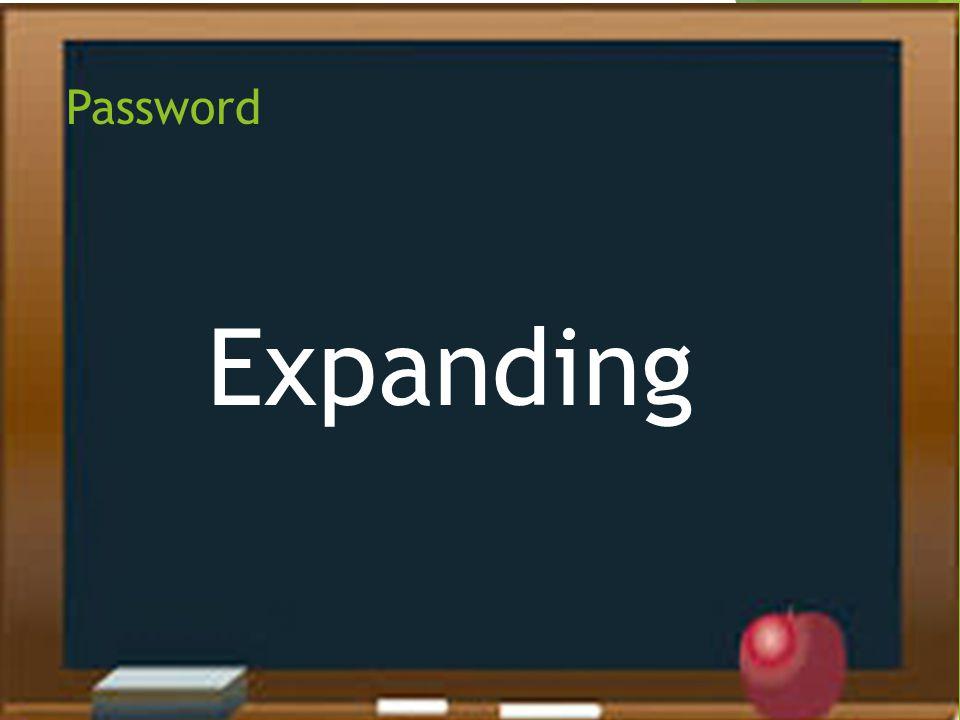 Password Expanding