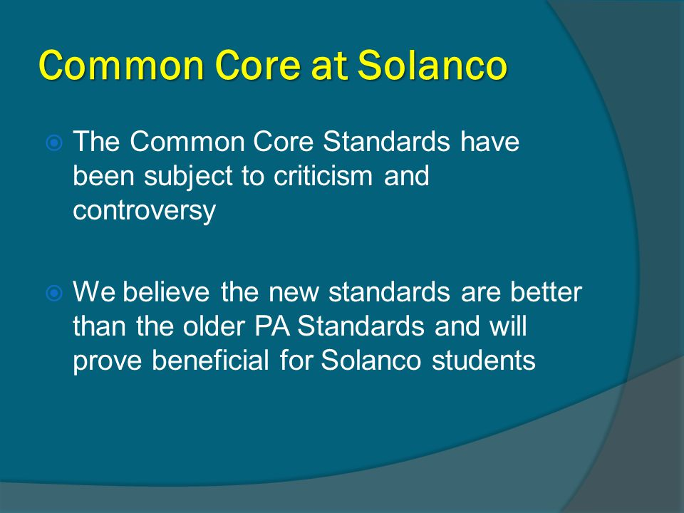 What are the Common Core Standards.