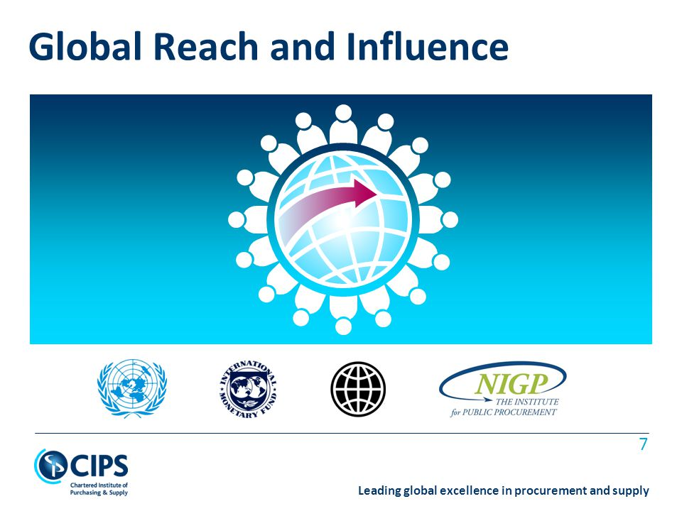 Leading global excellence in procurement and supply 7 Global Reach and Influence