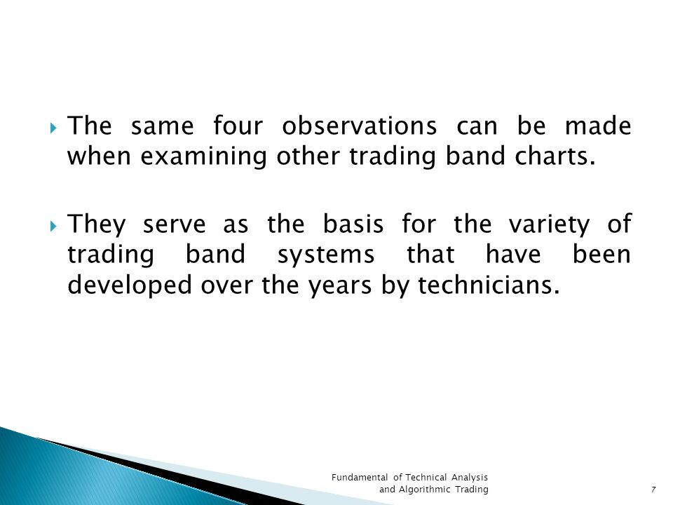  The same four observations can be made when examining other trading band charts.