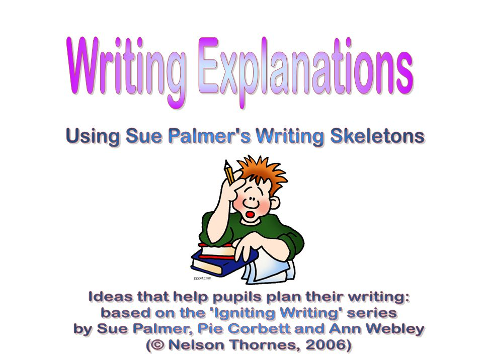 Remember to… Write a title that says what you are writing about (e.g.