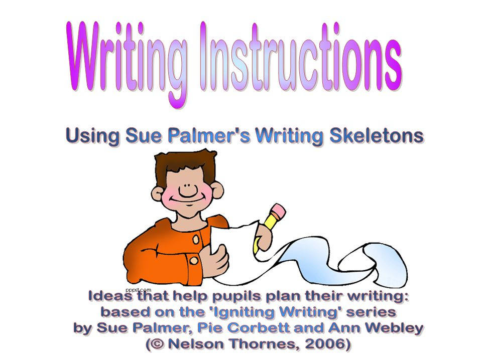 Remember to… Write a title that sets out the purpose for the instructions (e.g.