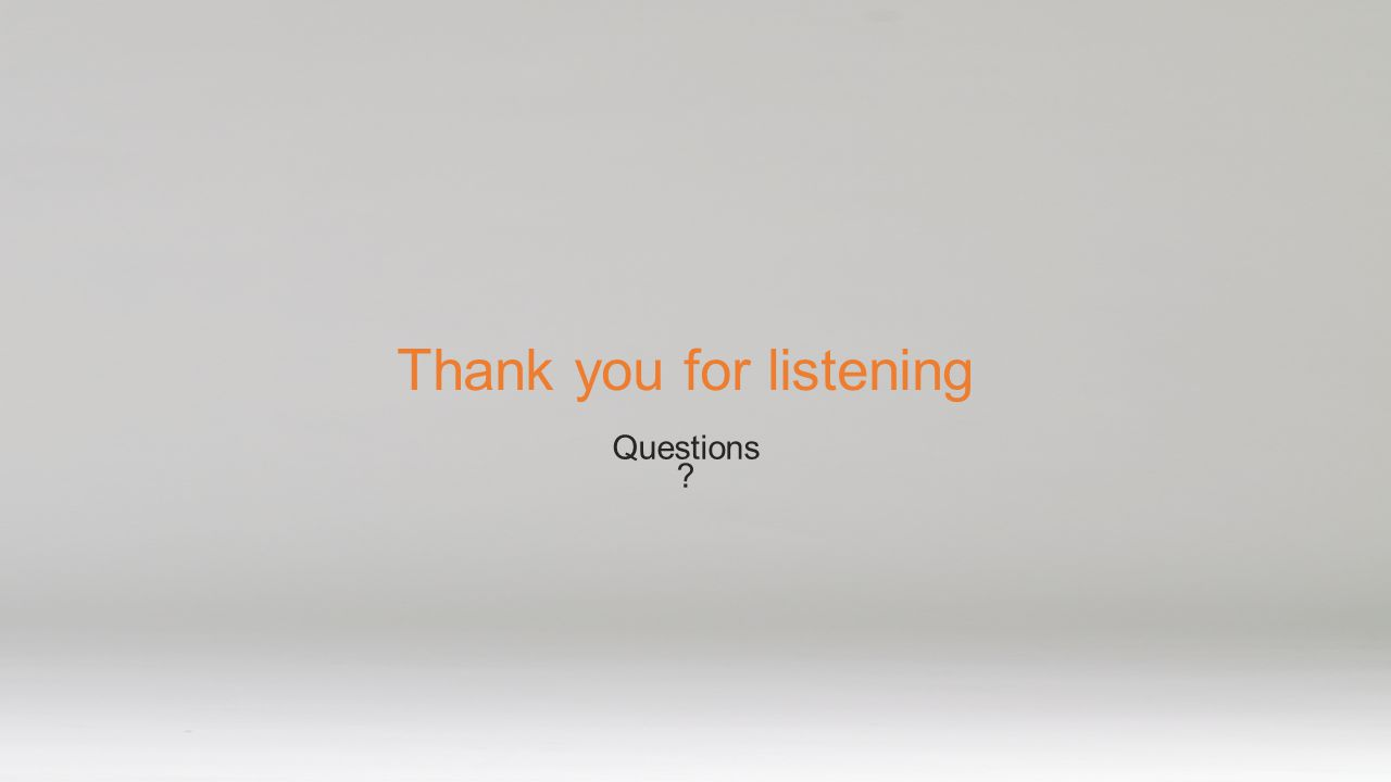 Thank you for listening Questions