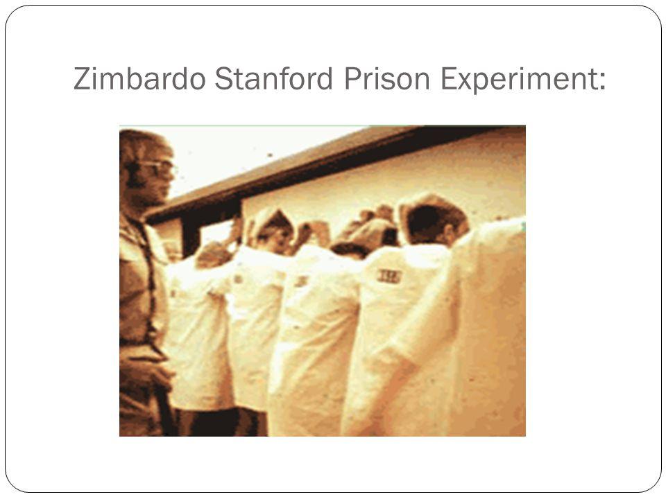 Zimbardo Stanford Prison Experiment: