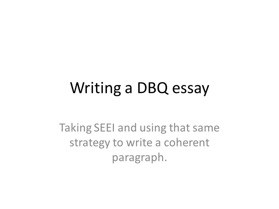 Write my writing a dbq essay