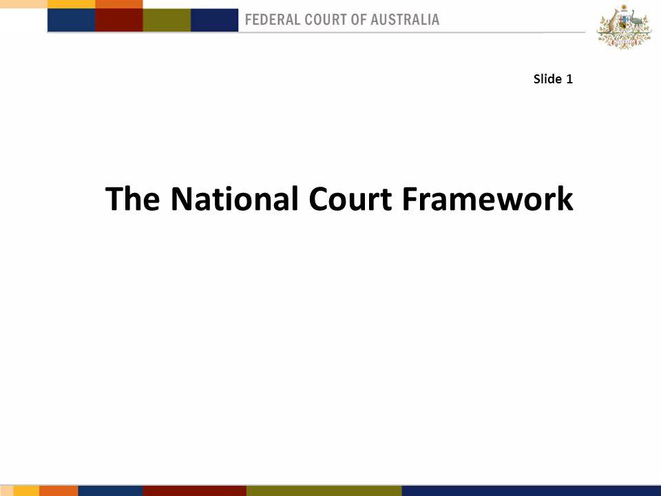 Slide 1 The National Court Framework.