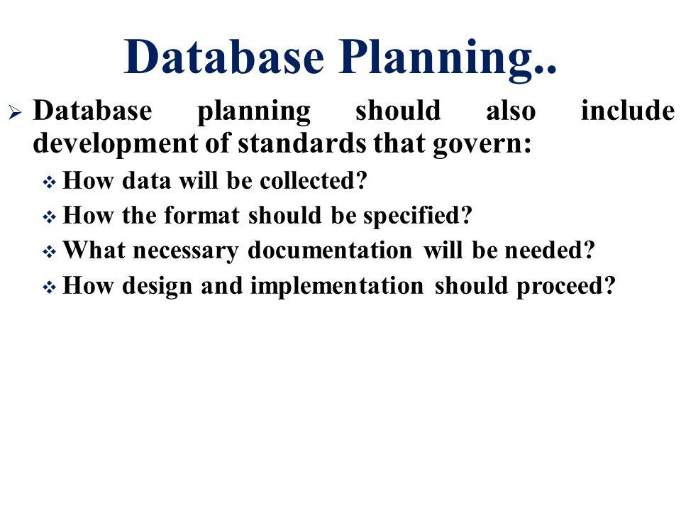 Database Planning..