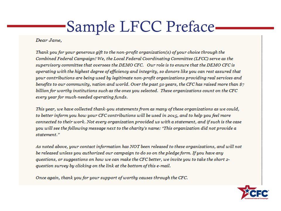 Sample LFCC Preface