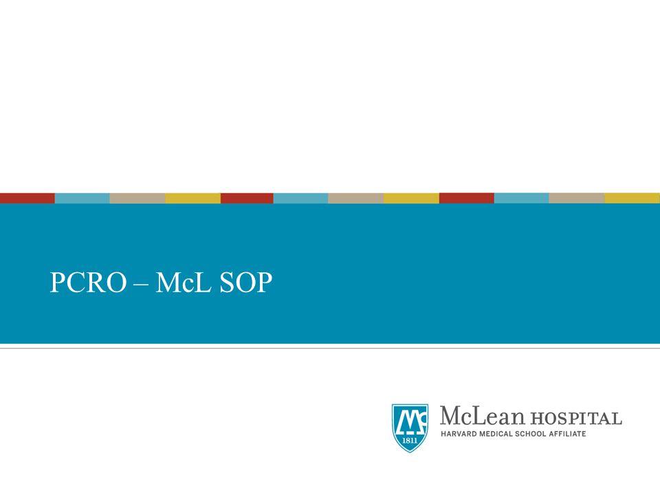 PCRO – McL SOP