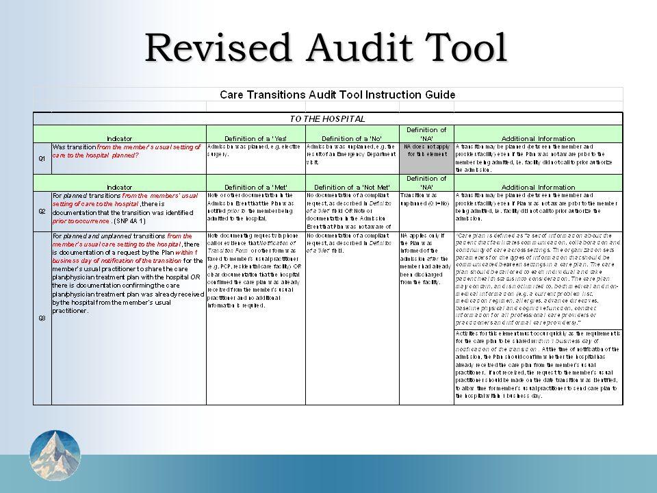 Revised Audit Tool