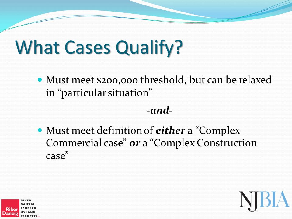 What Cases Qualify.