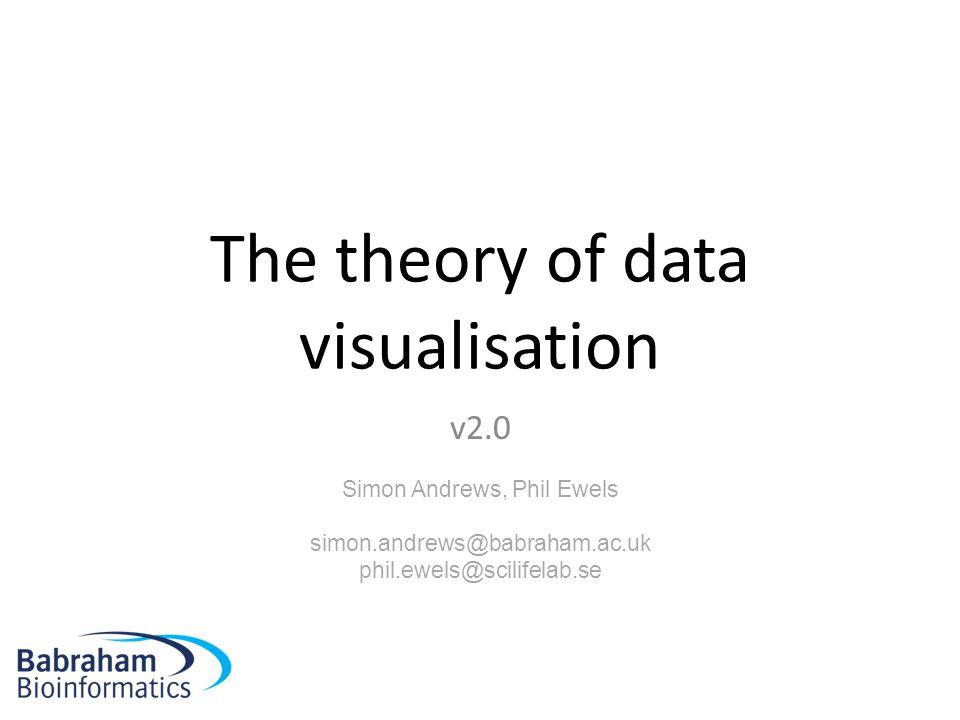 The theory of data visualisation v2.0 Simon Andrews, Phil Ewels simon.andrews@babraham.ac.uk phil.ewels@scilifelab.se