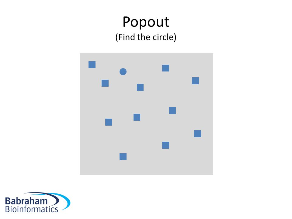 Popout (Find the circle)