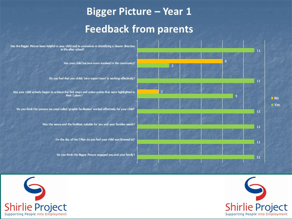 Bigger Picture – Year 1 Feedback from parents