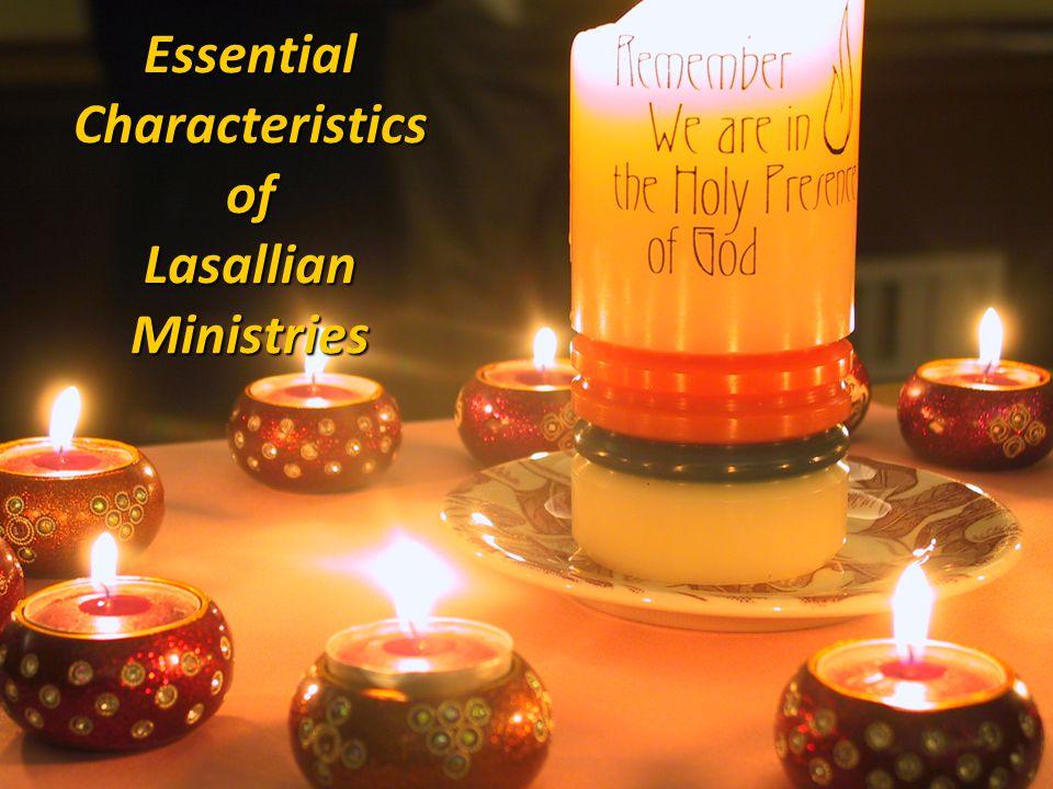 Essential Characteristics of Lasallian Ministries