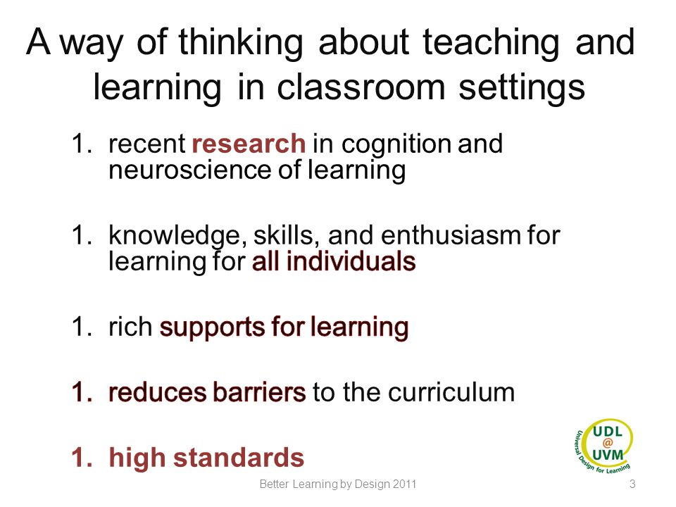 14Better Learning by Design 2011