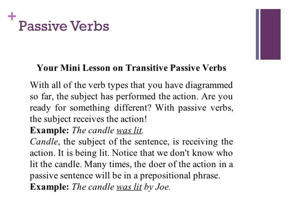 + Passive Verbs