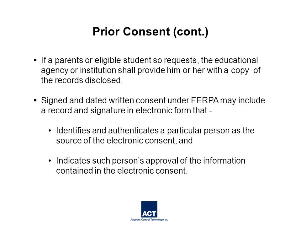  If a parents or eligible student so requests, the educational agency or institution shall provide him or her with a copy of the records disclosed.