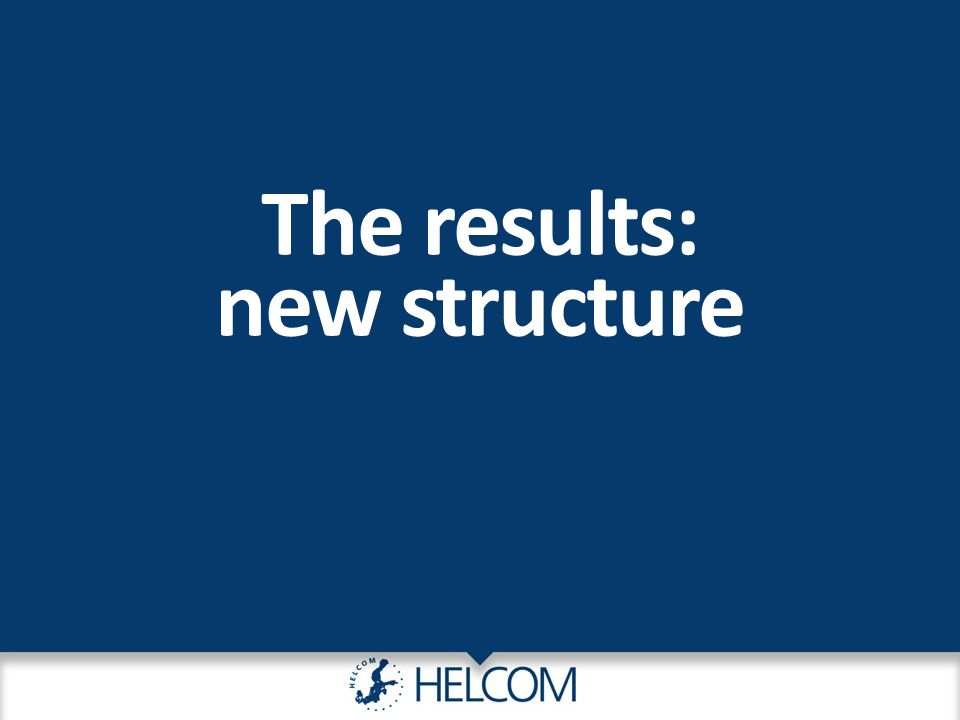 The results: new structure