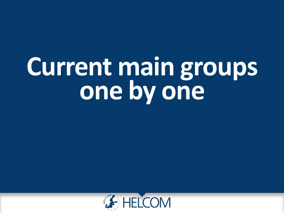 Current main groups one by one