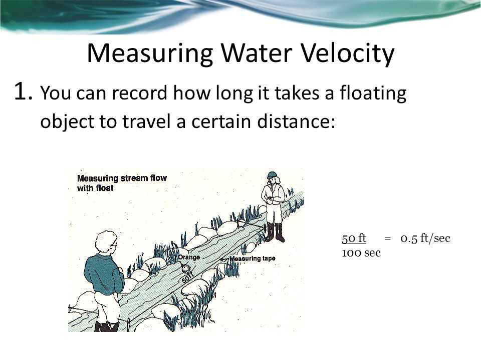 Measuring Water Velocity 1.