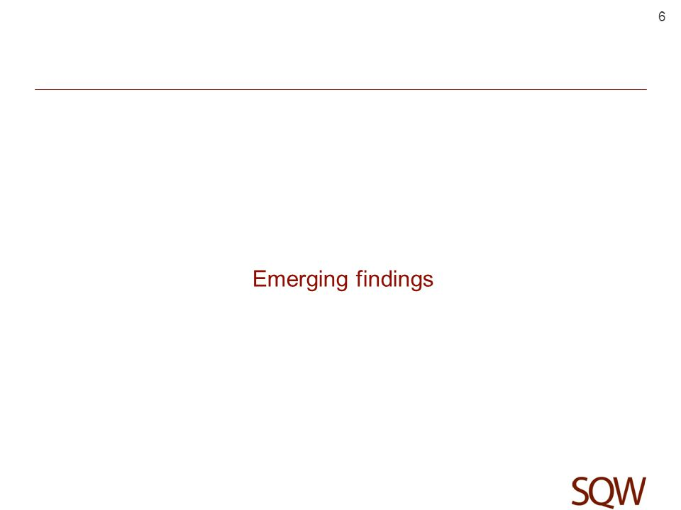 Emerging findings 6
