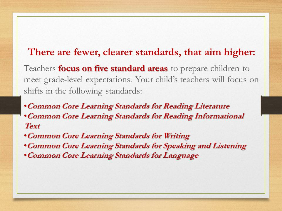 3 important ways 3 important ways that the new standards will impact daily classroom instruction of Reading and Writing.