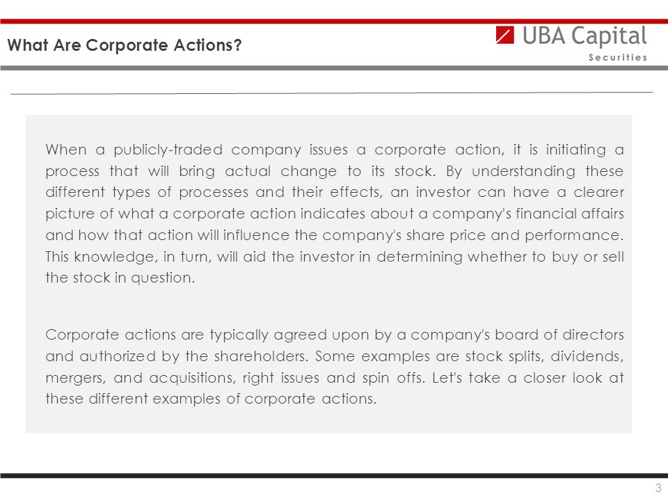 What Are Corporate Actions.