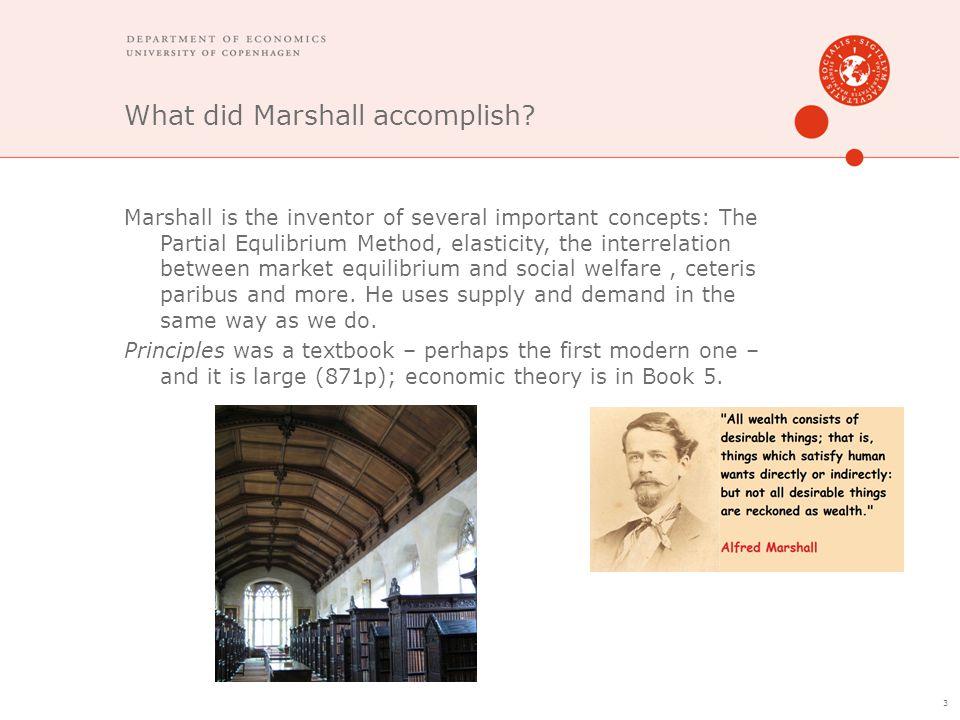 What did Marshall accomplish.