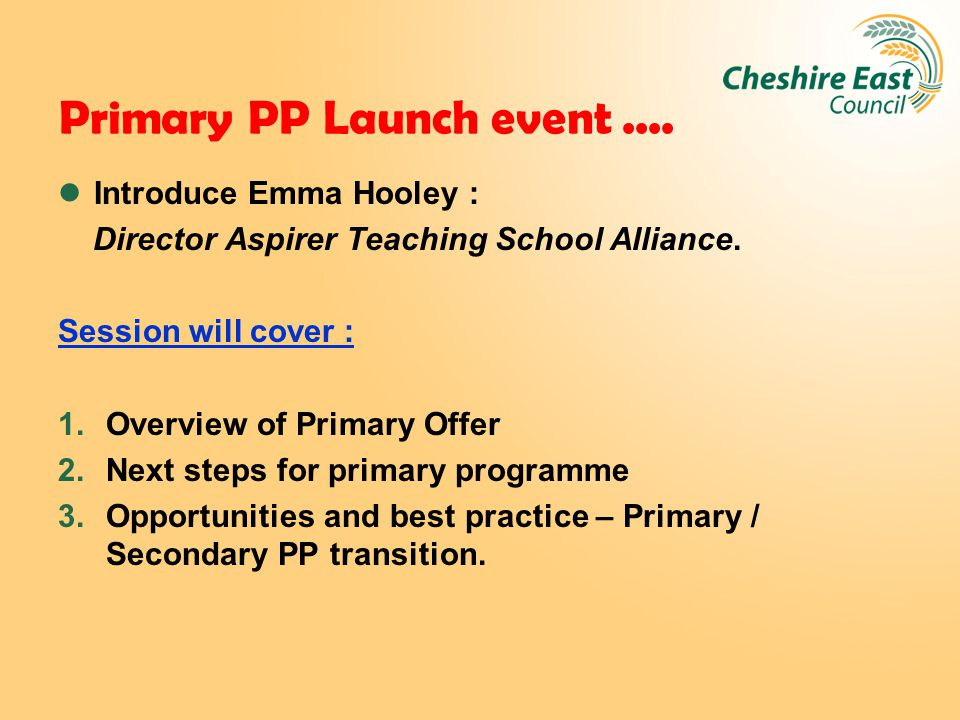 External PP Reviews : Feedback Session will cover : Feedback from recent external PP review at Malbank School.