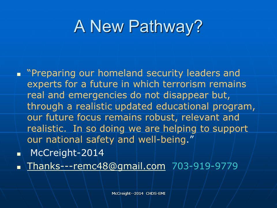 McCreight--2014 CHDS-EMI A New Pathway.