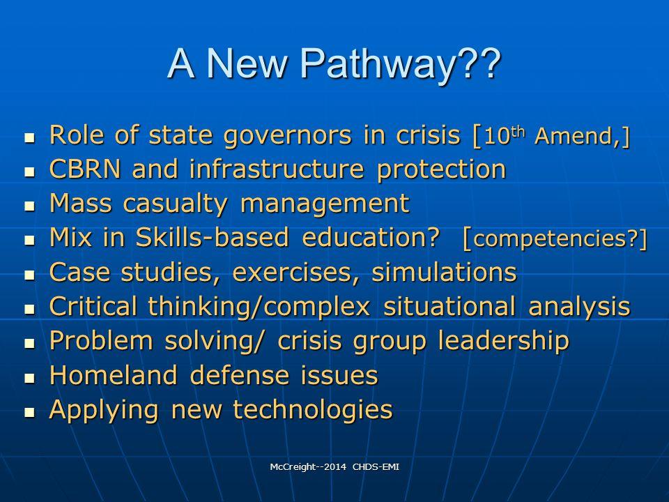 McCreight--2014 CHDS-EMI A New Pathway?.