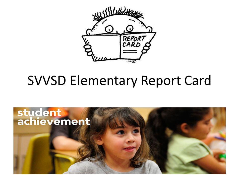 SVVSD Elementary Report Card