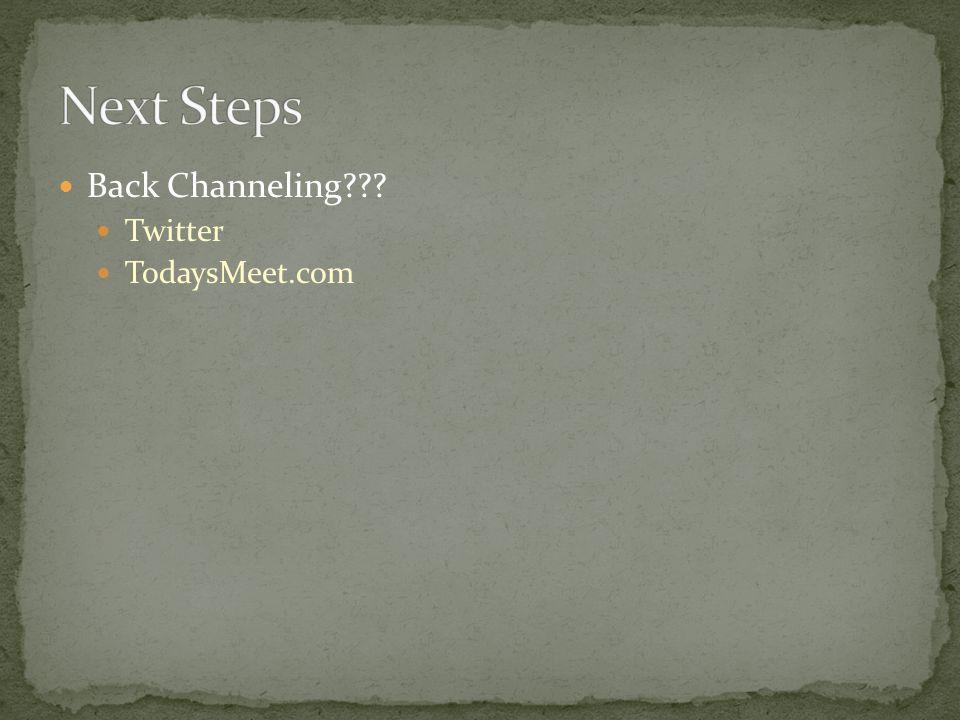 Back Channeling Twitter TodaysMeet.com
