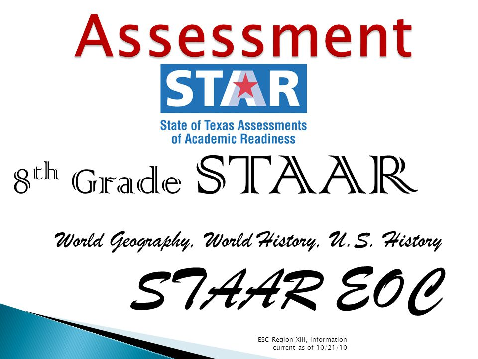 8 th Grade STAAR World Geography, World History, U.S.
