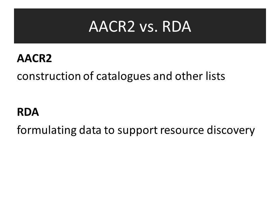 AACR2 vs.