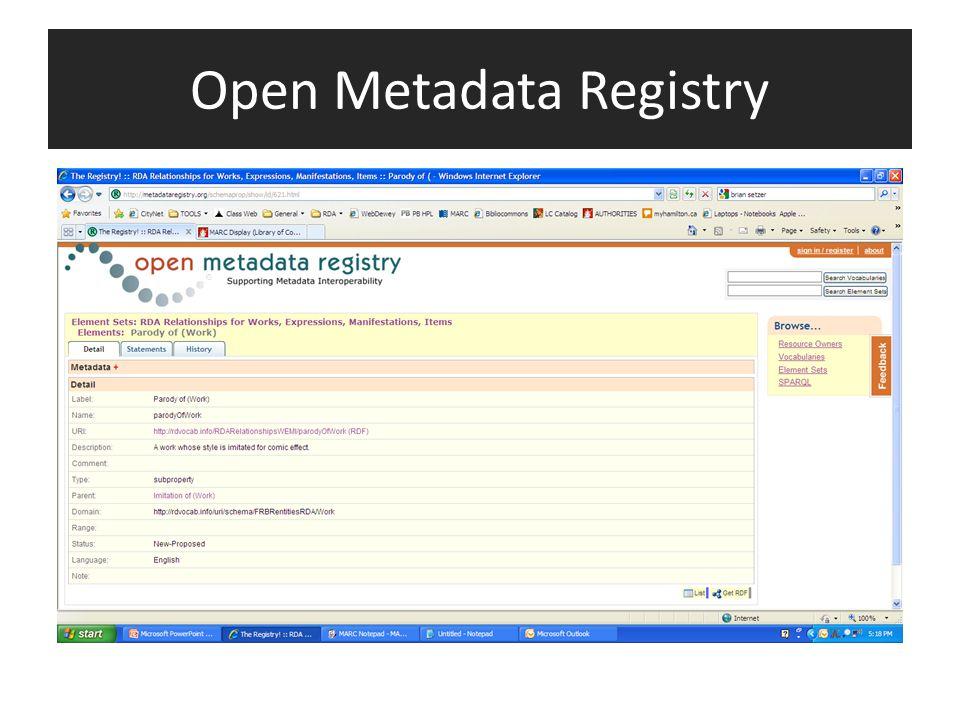 Open Metadata Registry