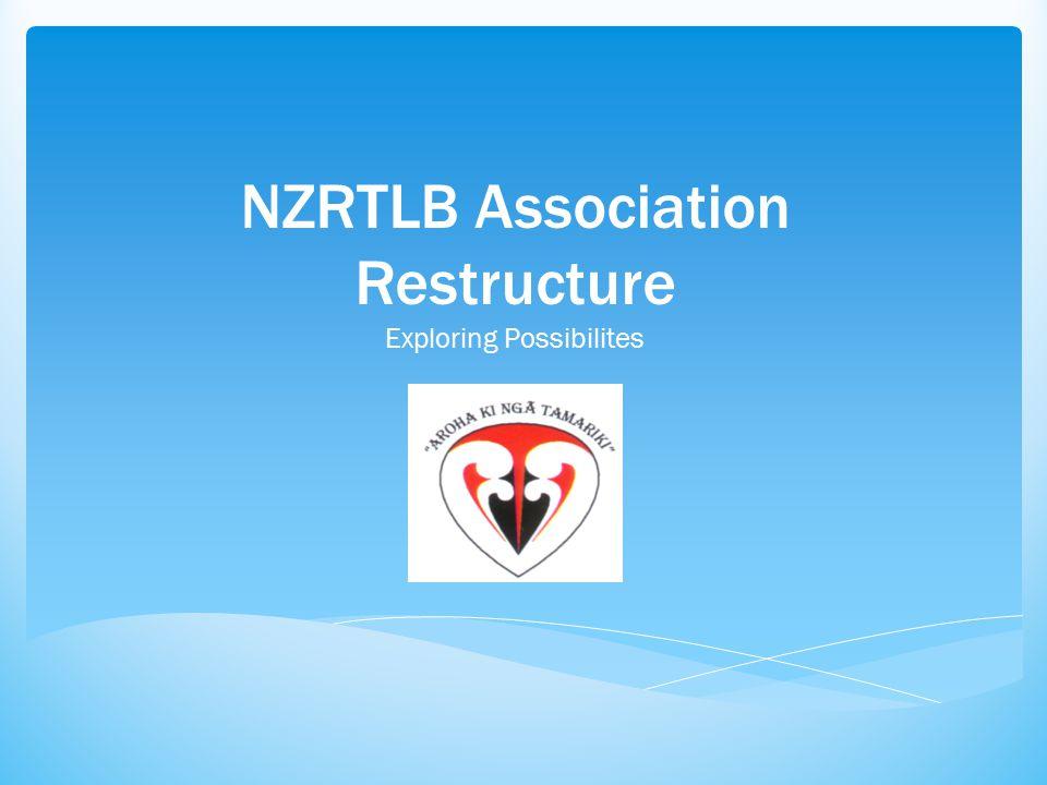 NZRTLB Association Restructure Exploring Possibilites