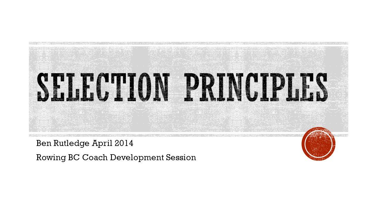 Ben Rutledge April 2014 Rowing BC Coach Development Session