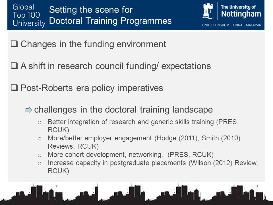 What do Doctoral Training Programmes have in common?