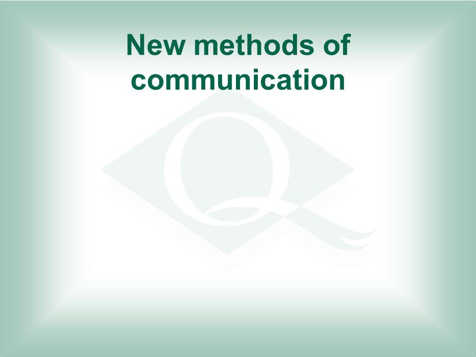 New methods of communication