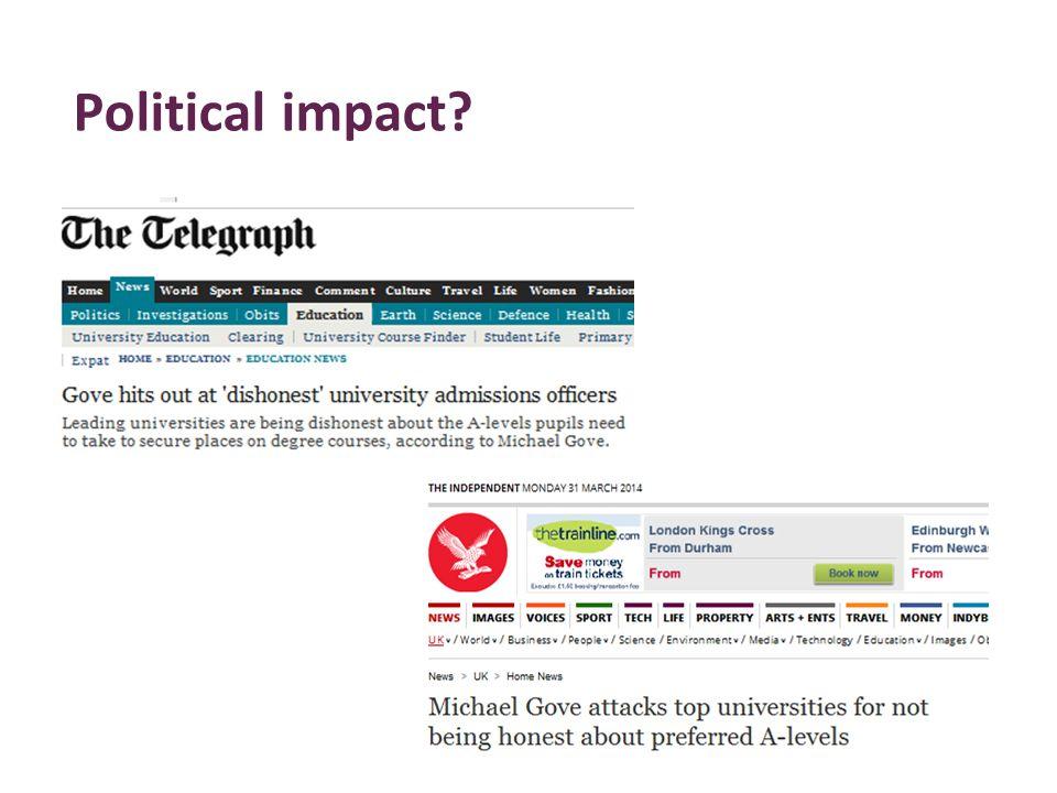 Political impact?