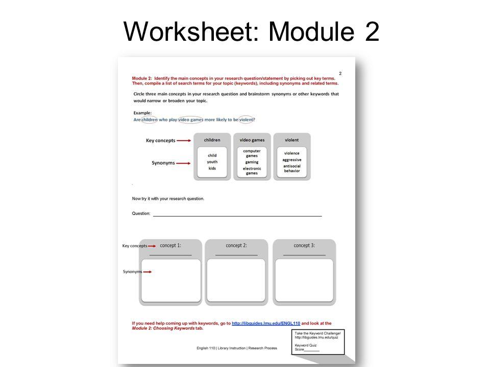 Worksheet: Module 2
