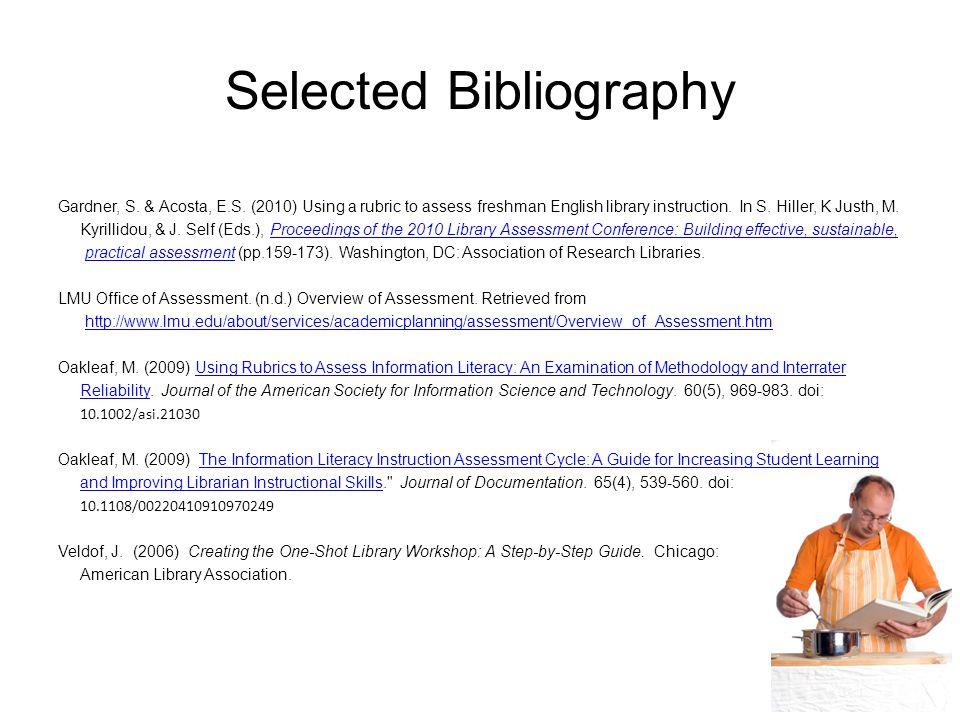 Selected Bibliography Gardner, S. & Acosta, E.S.