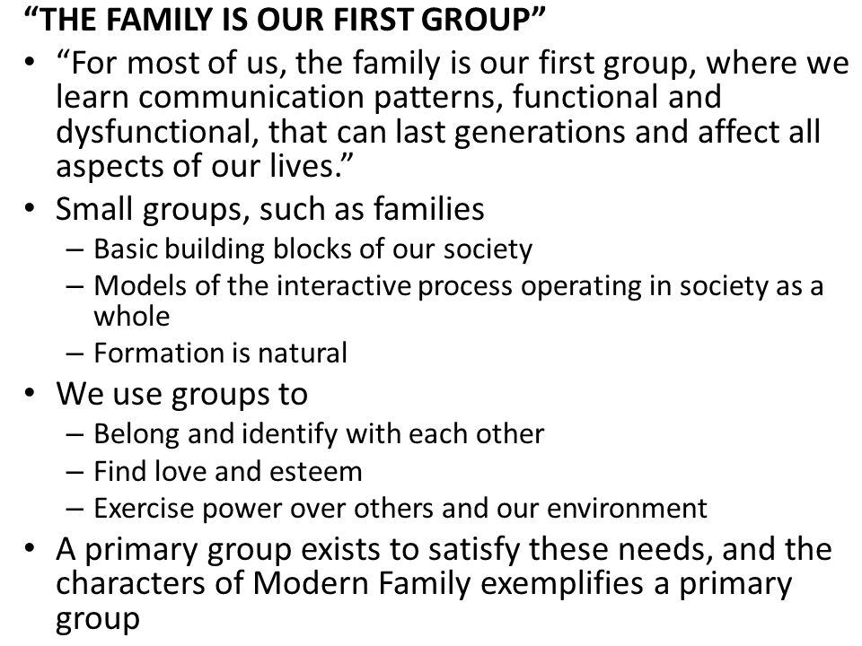 GROUPS ARE BETTER PROBLEM SOLVERS Groups are better problem solvers, in the long run, than solitary individuals because – Access to more information than individuals do If Claire and Gloria would have talked to each other, Haley would not have been able to get away with her party – Can spot flaws and biases in each other's thinking Cam's dad gave Mitch the smaller watch and Jay thought it was because he thought Mitch to be more feminine.
