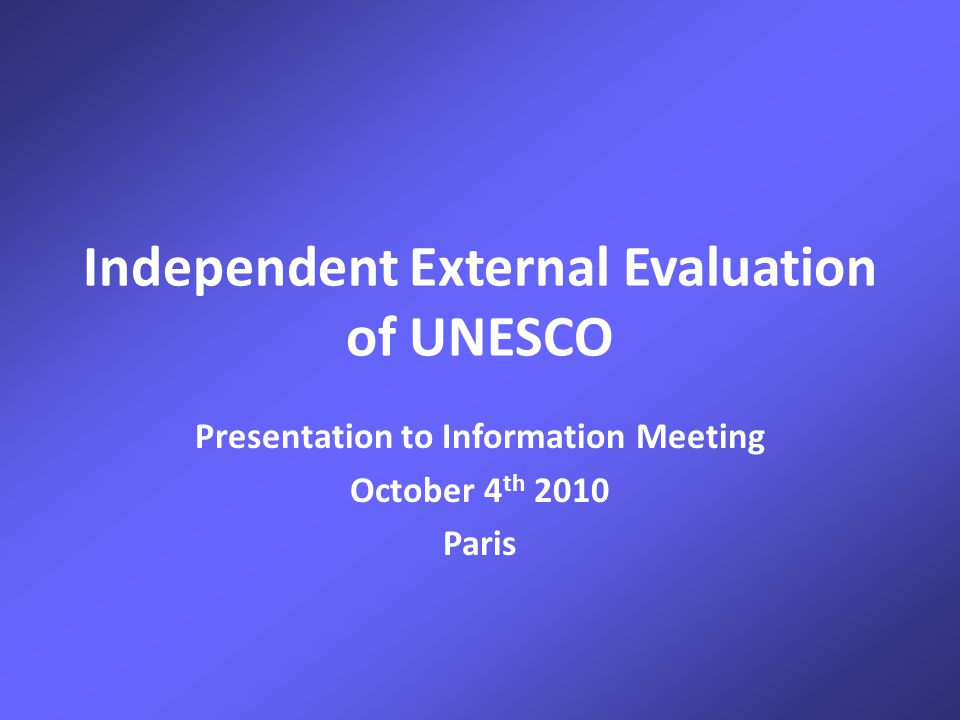 IEE Presentation to UNESCO Information Meeting – 0ctober 2010 Strategic focus: Contributing to UNESCO's goals rather than as instruments for programme delivery Making UNESCO more accessible and less bureaucratic, especially important for NGOs Renewing networks that can improve UNESCO's links with scientists, researchers and communities of practice Opening up governing bodies to CSPS inputs and representation Capacity building for National Commissions especially through South/South cooperation