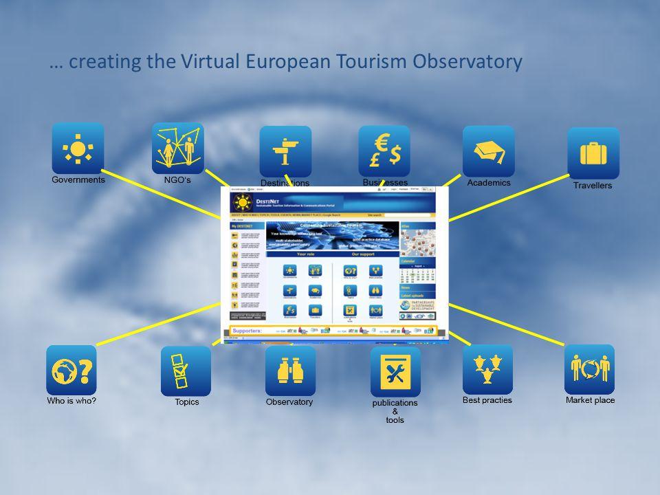 … creating the Virtual European Tourism Observatory