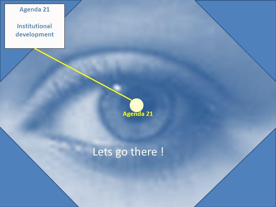 Original diagram - saved Agenda 21 Institutional development Lets go there ! Agenda 21