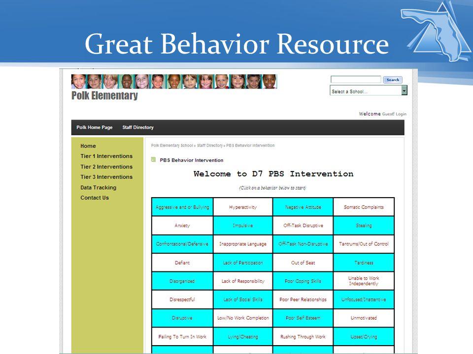 Great Behavior Resource