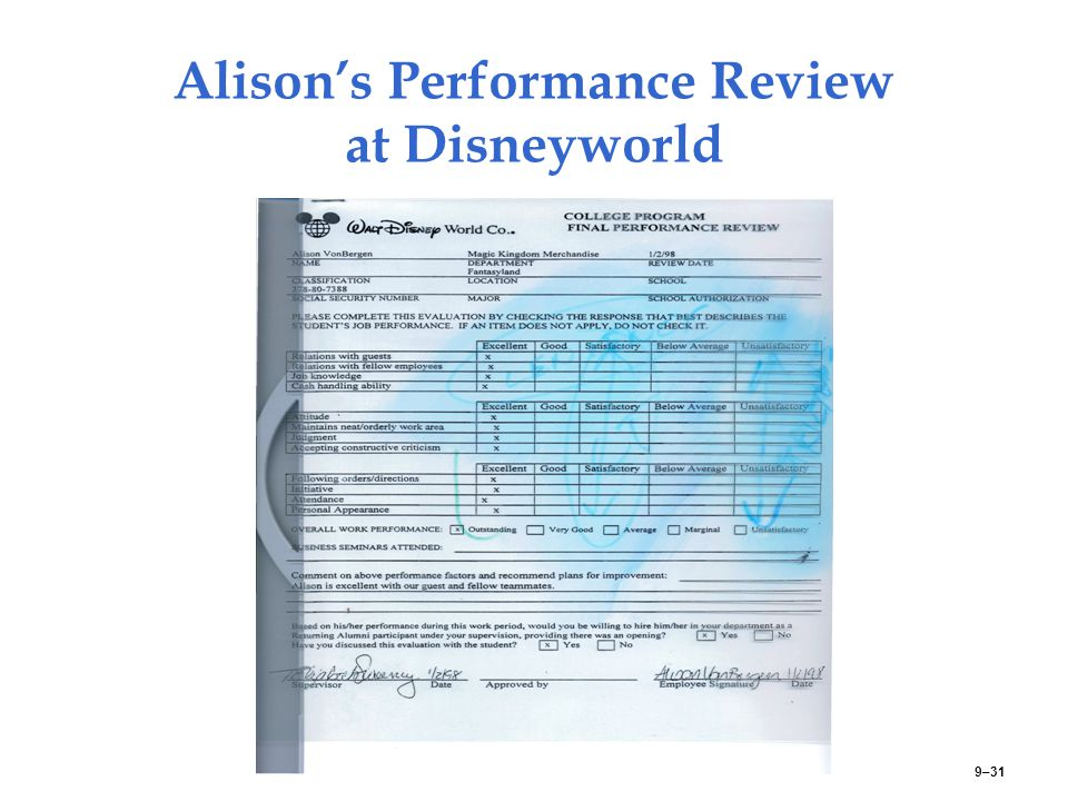 Alison's Performance Review at Disneyworld 9–31